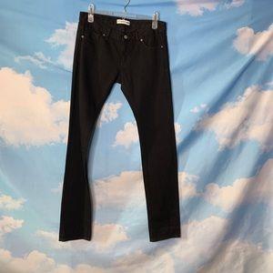 Uniqlo- Black Straight Leg Jeans size 25